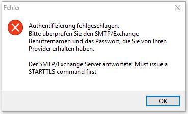 SmartSerialMail SMTP-Authentifizierung fehlgeschlagen