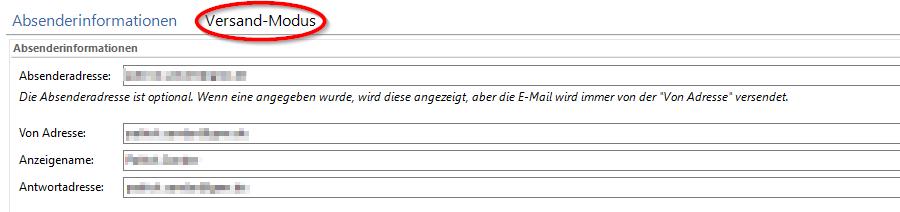 SmartSerialMail Absenderinformationen